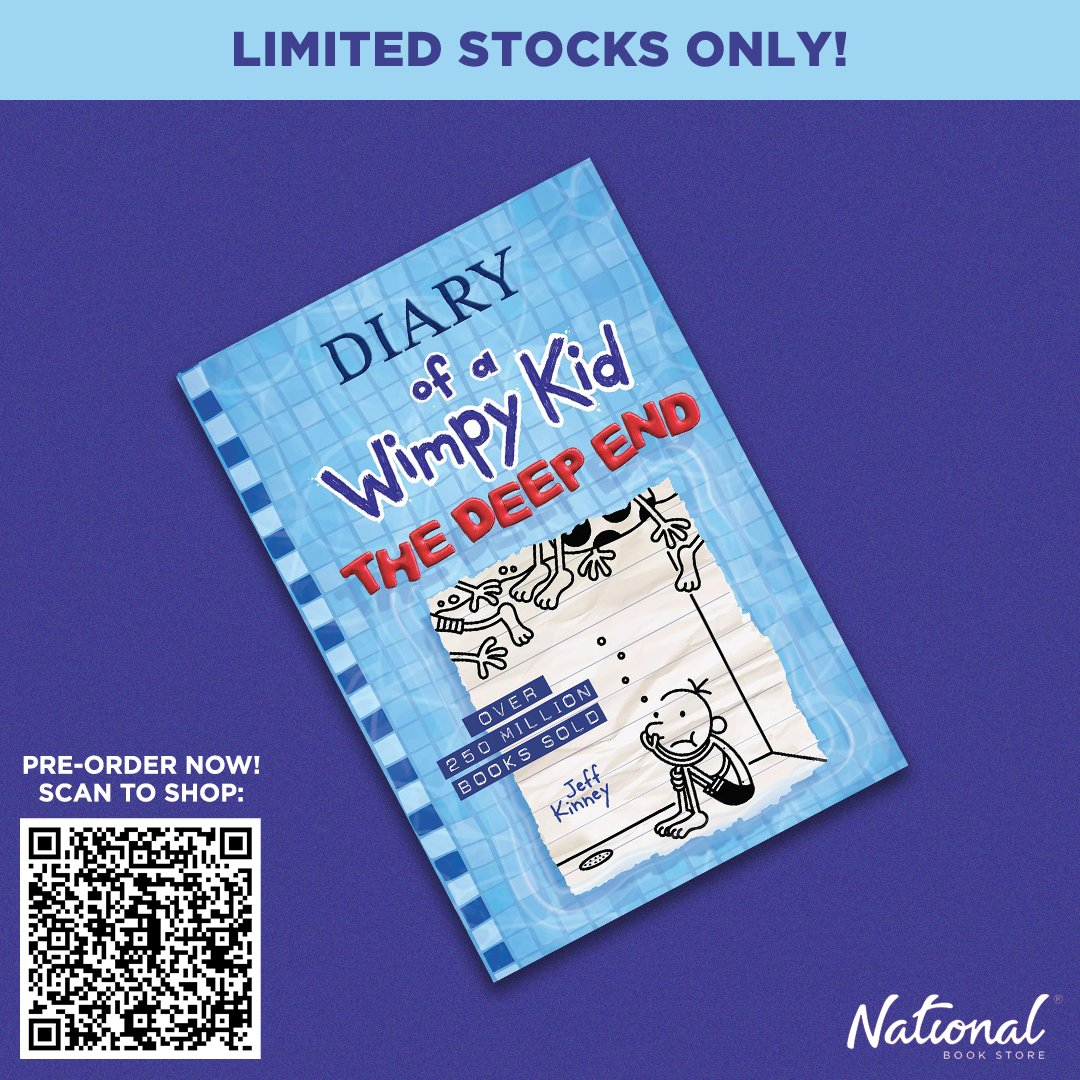 Pre-order the 15th Wimpy Kid book: The Deep End! Scan the QR Code or visit this link: .  Stocks are limited so get yours now! #WimpyKid #JeffKinney #NBSNewReads #NBSbookstagram #NBSeveryday