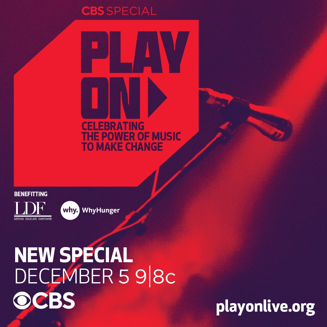 Watch Andra Day perform @CBS #PlayOnLive Dec. 5 in support of @naacp_ldf, @whyhungerpix and @sixdegreesofkb