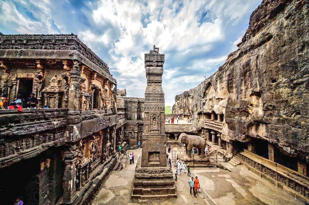"""Clio's Chronicles on Twitter: """"Engineering Marvel Of India's Master Builders Rashtrakutas were great patrons of art and architecture. They were the great builders. The cave architecture reached its excellence under Rashtrakutas. And"""