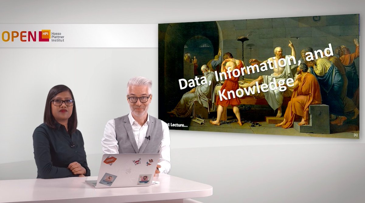 "First topic of our #KnowledgeGraphs course on @openHPI is ""Data, Information, and Knowledge"". What's the difference? Find out at https://t.co/Fw8sdepG8Y @FIZKarlsruhe @fiziseka @KITKarlsruhe https://t.co/xSemek5nhy"