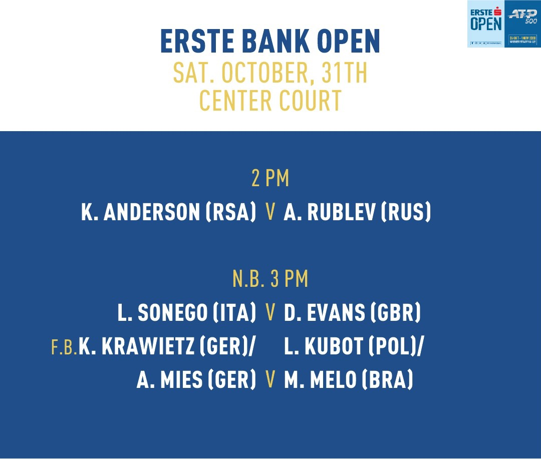 Today's Order of Play #ErsteBankOpen https://t.co/qTE21hbvZW