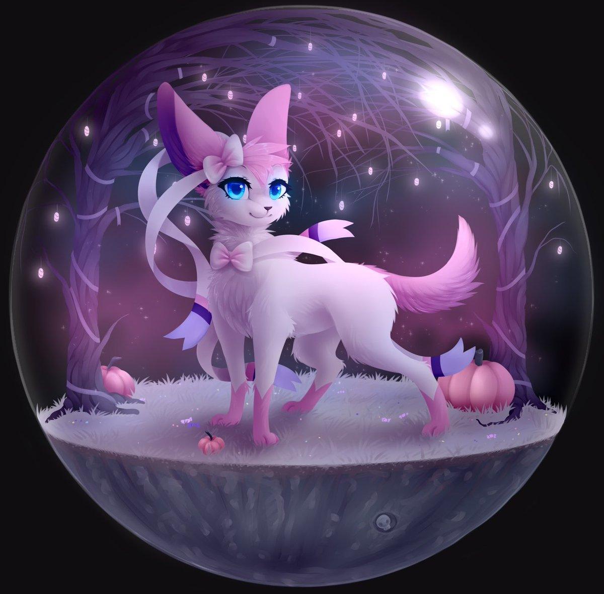 Blooming Lynx On Twitter Pokemon Sylveon Sylveon In The Halloween Terrarium