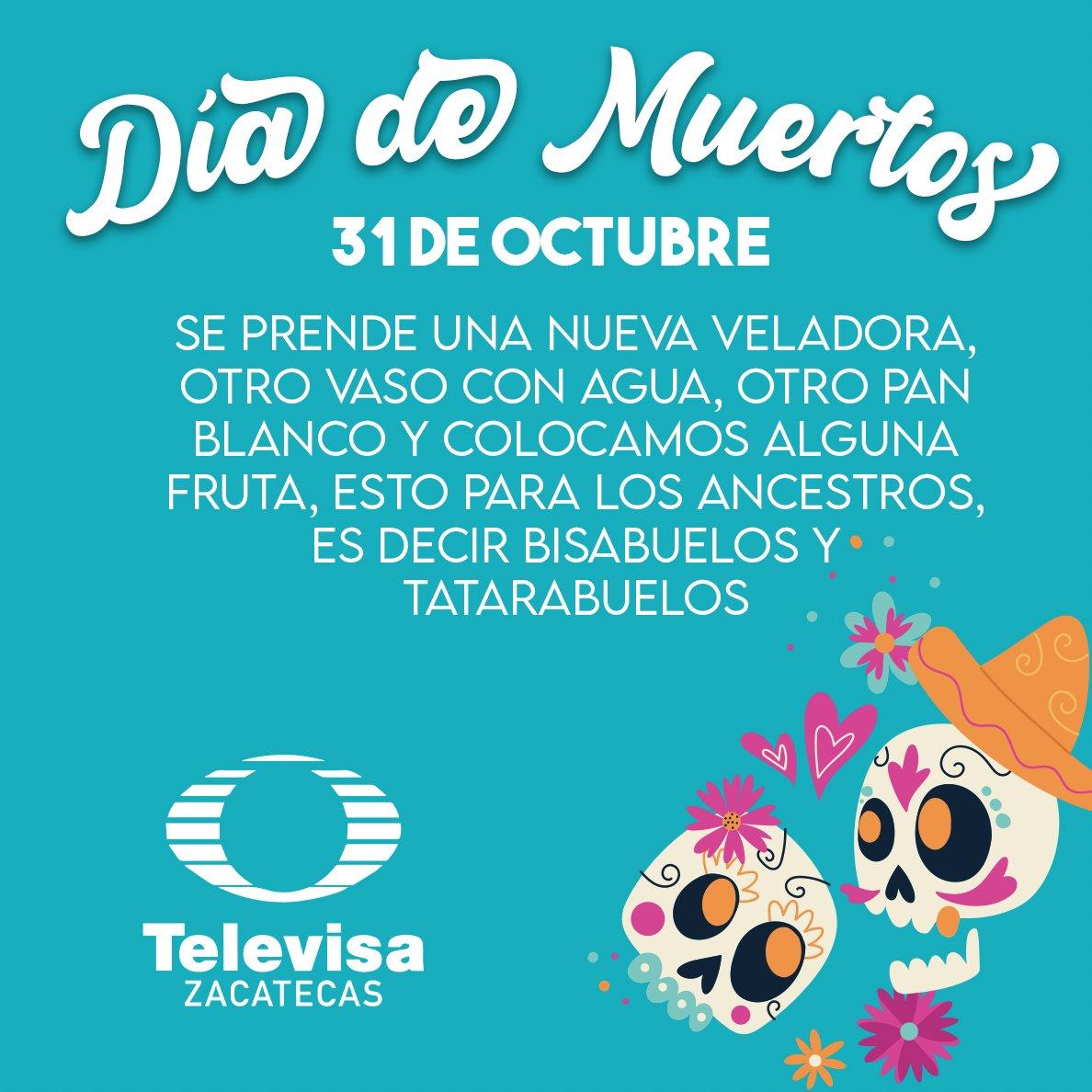 🕯31 de octubre y es tiempo de esperar a nuestros seres queridos del más allá, esta vez a nuestros bisabuelos y tatarabuelos  🕯💀 #TelevisaZacatecas #DíaDeMuertos #Tradición https://t.co/yeLLTMvQpw