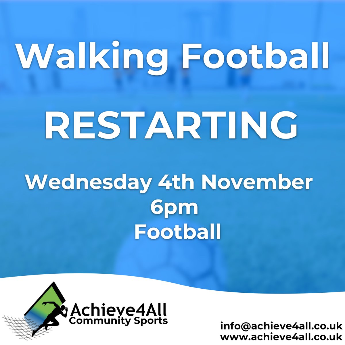✳️Walking Football - Tiverton - Last few spaces✳️  The only rules we have is that you can on walk!✔️  🔹 Book on the FREE session at https://t.co/gK3rGG3hfo  if you need more details contact 07833 230819  #walkingfootball #tiverton #devon #mentalwellness #mentalhealth #fun #sport https://t.co/pDXI8oYras