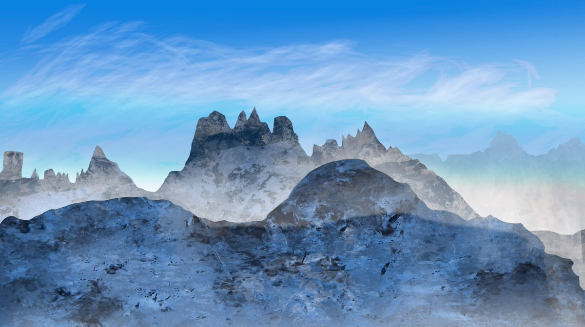 Snowy mountains  #Art #Artist #Artwork #Draw #Drawing #Drawings #Daily #DailyArt #DailyDrawing #Practice #Exercise #ConceptArt #ConceptArtist #Concept #Snow #Snowy #Mountain #Mountains #ArtistOnTwitter https://t.co/oR1WK52sjY