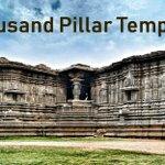 Image for the Tweet beginning: The #ThousandPillarTemple located in Warangal