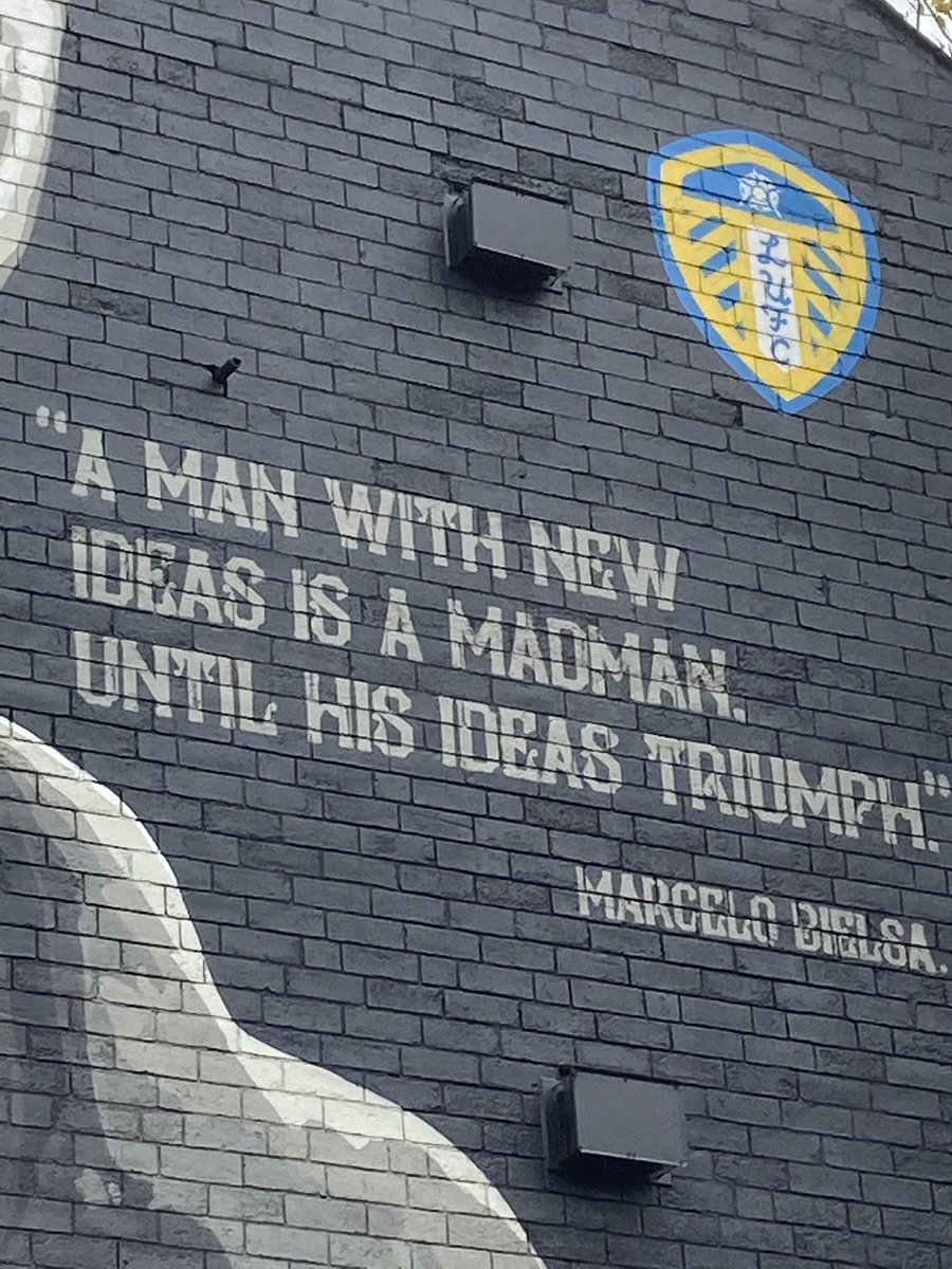 Loving the explosion of street art here in last few years (esp @pantsdanny), much rightly inspired by #LUFC's padre. But every time I see this quote, I can't help feeling we in #Leeds have let Roy Francis down by allowing him to be mostly unknown here... https://t.co/AZeMA3BvI4 https://t.co/9lxkhipIjT