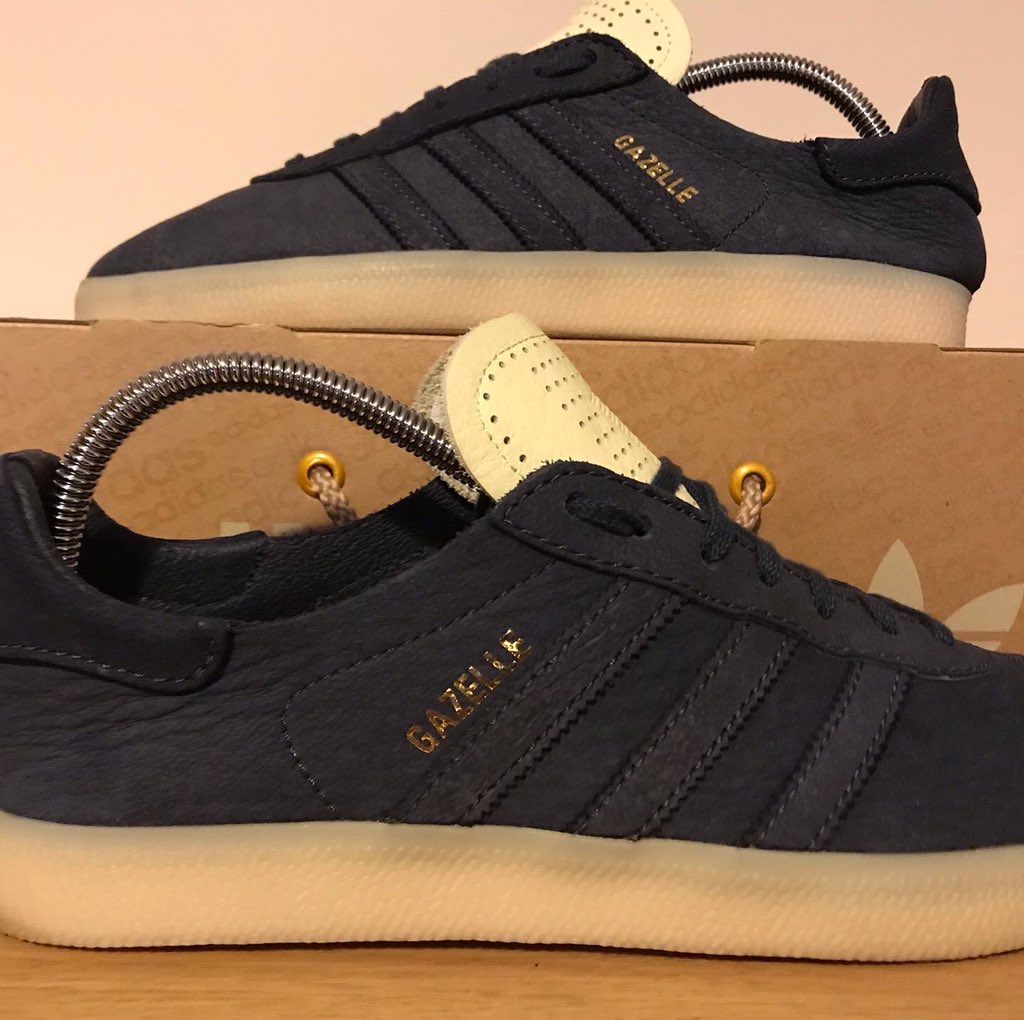 #adidas #adidasoriginals Crafted Gazelle, probably the best quality leather I've ever seen on a shoe, hand crafted in #Leeds #yorkshire https://t.co/9bmq3AIKV1
