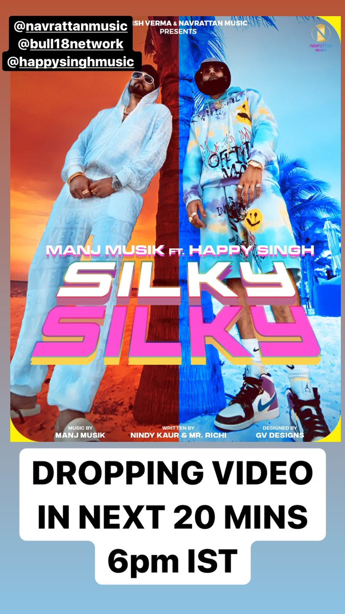 WE DROPPING MY BIGGEST VIDEO SO FAR IN 15 mins! This gonna be a 🎬 @happysinghmusik   GET READY!! https://t.co/Fp5NZ83bMM
