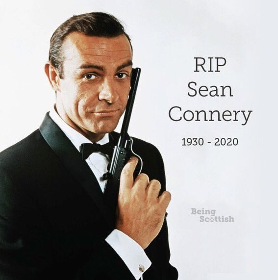 Well NOW I think it's TRULY OFFICIAL..... WORSE YEAR EVER! #fuc2020 #RIP OLE CHAP! #SeanConnery