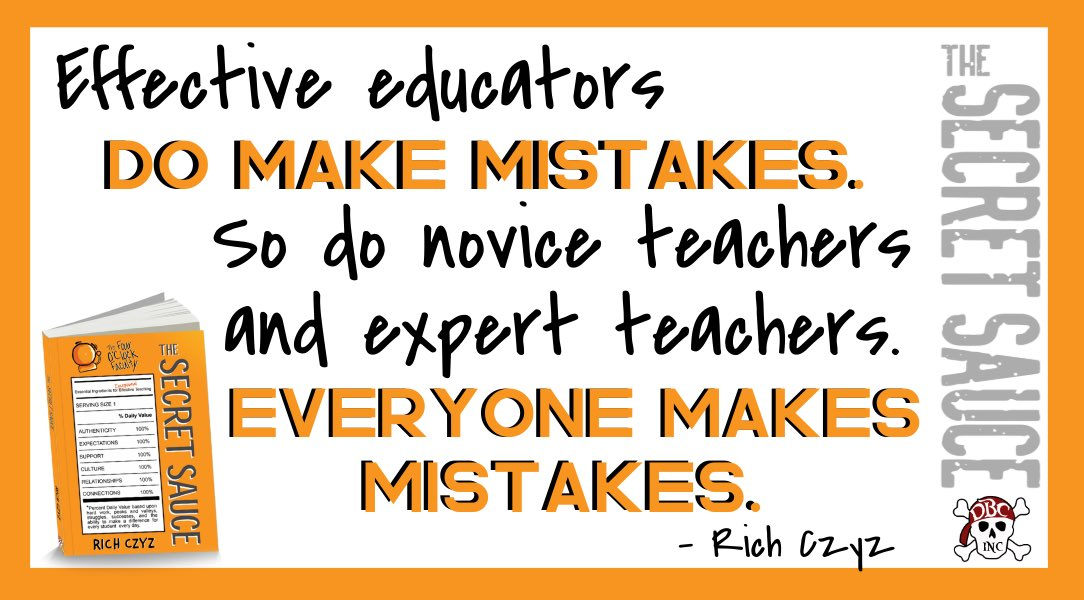 It's OK to make mistakes right now. amazon.com/Secret-Sauce-E… #4OCF #TheSecretSauce #satchat #leadlap
