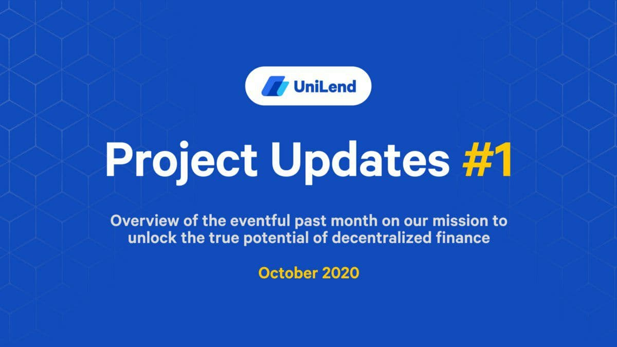 1/ Announcing UniLend's Project Updates #1  🎯Over the past month the UniLend team has hit every target we hoped to achieve. The future will be much more of the same.  ☕️Grab a hot drink & catch up on all our accomplishments during October: https://t.co/FnTho0RLCh  Highlights👇 https://t.co/5MCN6Mzy3L