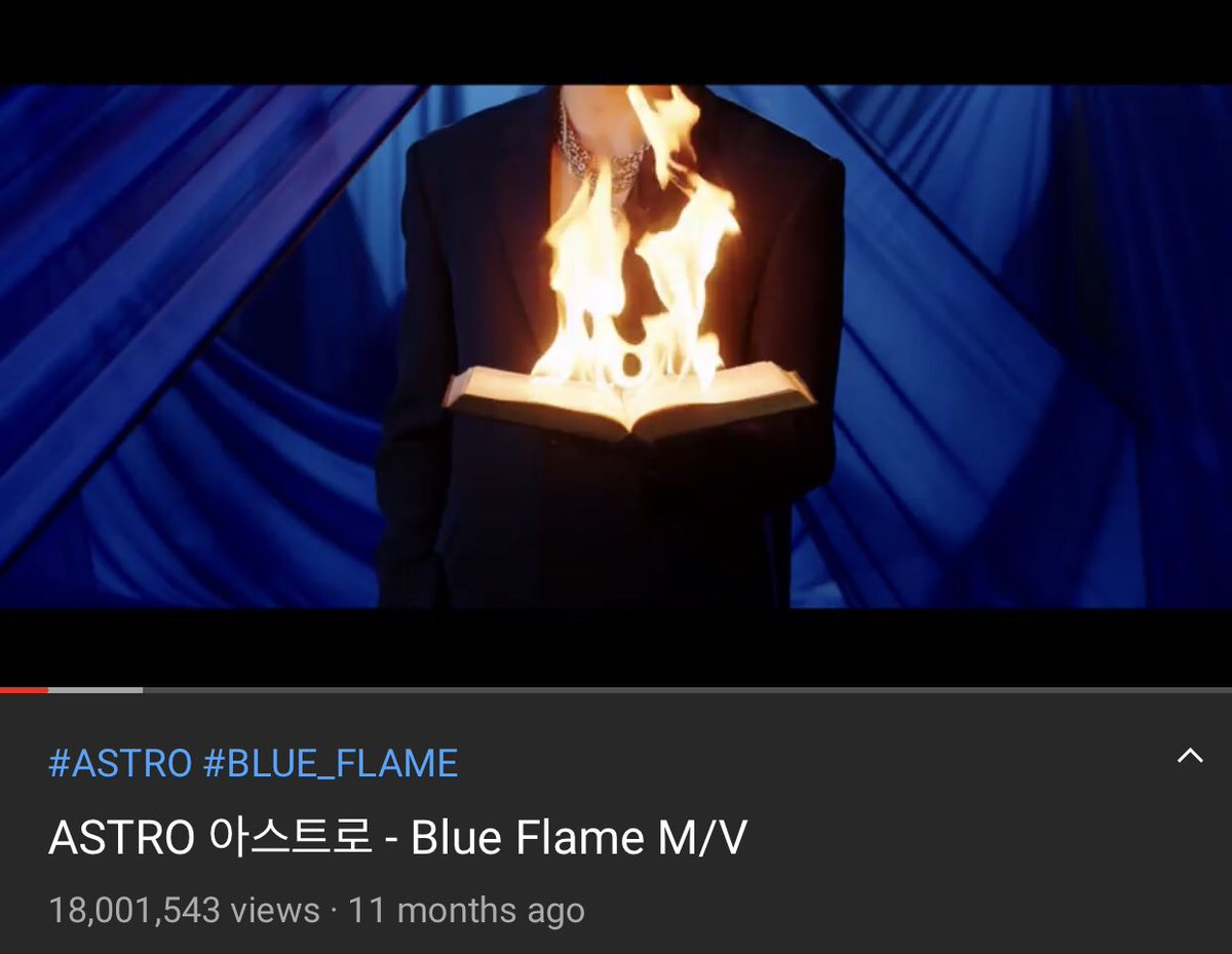 [INFO] 201031 #BlueFlame M/V has surpassed 18 million views on ASTRO's Official YouTube Channel! 🔗youtu.be/wS7anrSXKrY [ #아스트로 #アストロ #ASTRO @offclASTRO ]