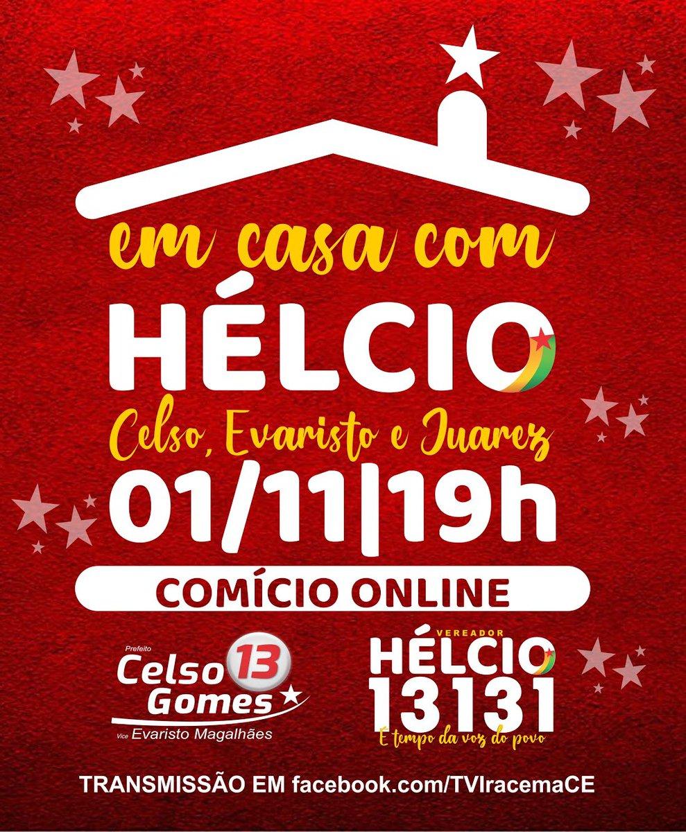 Amanhã tem Comício On-line 🤩 #éumpiseirosó #vemcomagente #fiqueemcasa #vote13 #vote13131 https://t.co/3H0XO9XleD