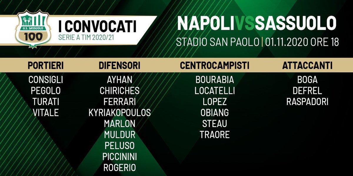 #NapoliSassuolo