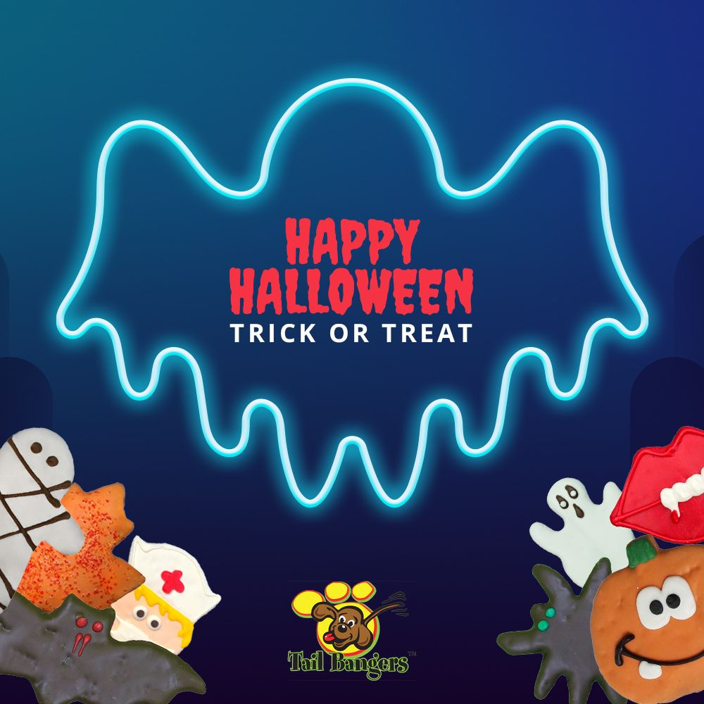 🎃 Happy Halloween dear friends! 🐾  No tricks! Just treats please!  #tailbangers #HappyHalloween #HalloweenMonth #Halloween2020 #petproducts #pets #dog #funny #pup #puppy #dogfood #petfood #dogtreats #dogtreatsandchill #dogtreatsandtoys  #dogtreatsfordays https://t.co/OJlH1nzfrz