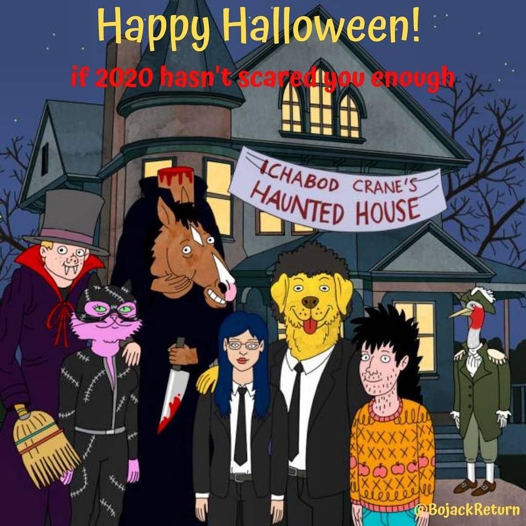 Happy Halloween!  if 2020 hasn't scared you enough  @BjackReturn #bojackhorseman #dianenguyen #toddchavez #mrpeanutbutter #princesscarolyn #sarahlynn #bojackhorsemanedit #bojackhorsemanquotes #bojackhorsemanmemes #depression #sad #netflix #halloween https://t.co/MEY2JVL3a0 https://t.co/2p2sY0ngsK