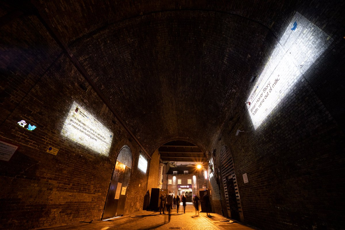 Replying to @GayWomenChannel: There's a spooky message in the Clink Street Tunnel in London 👻 #HappyHalloween