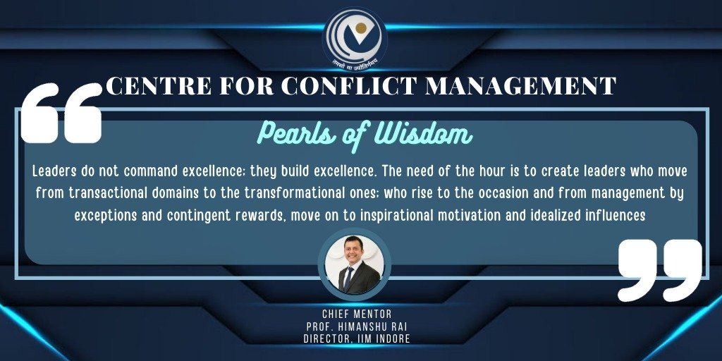 CCM is an initiative that not only resolve conflicts but also provides a great opportunity to learn. . @askhimanshurai  . #CCMwithYOU #Centre_for_conflict_management #Prof_Himanshu_Rai #conflictresolution  #mentalhealthcounseling  #businesssolutions  #mentalwellbeing https://t.co/gimp690JG9