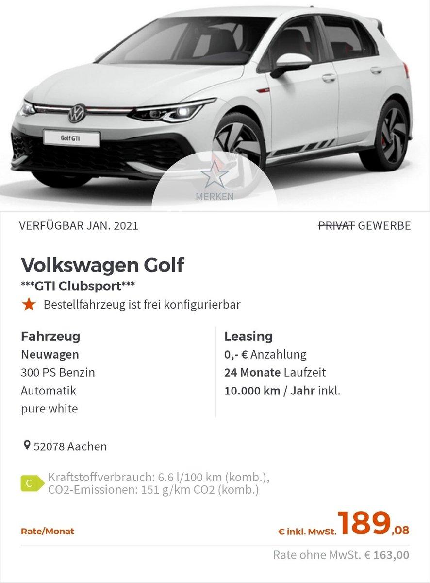 volkswagen leasing privat