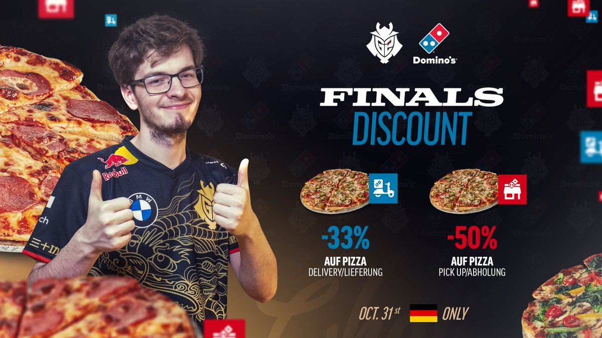 G2 Esports On Twitter Successfully Dodged Getting 0 3 D In Finals Time To Celebrate Dominos Discount Vouchers Below Lets Goooo