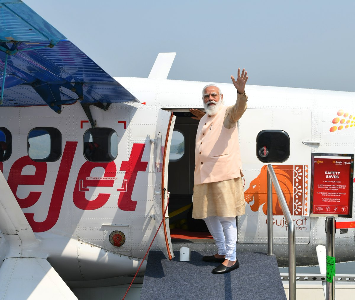 Next potential Seaplane route in Gujarat could be Statue of Unity to Surat: Spicejet CMD Ajay Singh