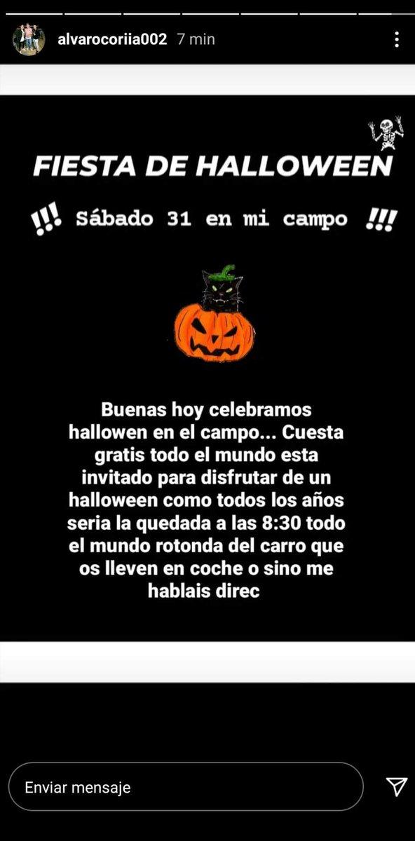 @policia @guardiacivil Esto es en Coria del Río, Sevilla, pero pasará en muchas localidades de toda España.   #RT #Halloween #COVID19 #BASTA https://t.co/byoAinI5YL