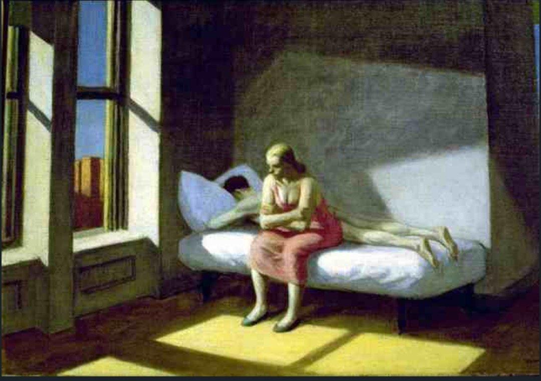 Summer in the city by Edward Hopper, 1950. Dimensions: 76 x 51 cm. Medium: Oil on canvas. #LOONA #이달의소녀 @loonatheworld #EKP_bestfemalechoreo_LOONA #EKP_bestfemalegroup_LOONA