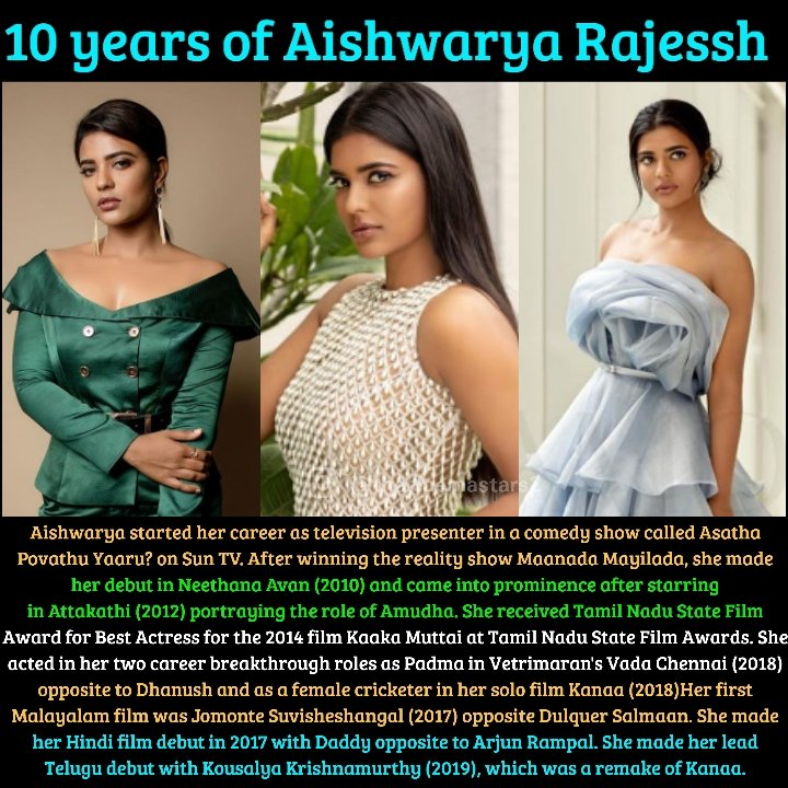 10 years of Aishwarya Rajessh . . @aishu_dil #beauty #sun #captionplus #nofilter #amazing #sunset #photooftheday #instagood #me #happy #tbt #fashion #cute #friends #selfie #art #picoftheday #style #summer #repost #girl #travel #instadaily #smile #morningmood #morningvibes https://t.co/Sisr7Sy4ij
