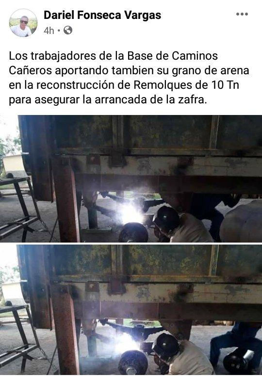 UEB GRANMA, BASE DE CAMINOS CAÑEROS   TRANZMEC  #NoMasBloqueo #VamosPorMás #Azucareros https://t.co/nxPBiBiGYi