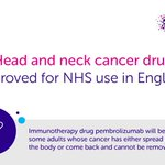 Image for the Tweet beginning: Pembrolizumab, an immunotherapy drug, will
