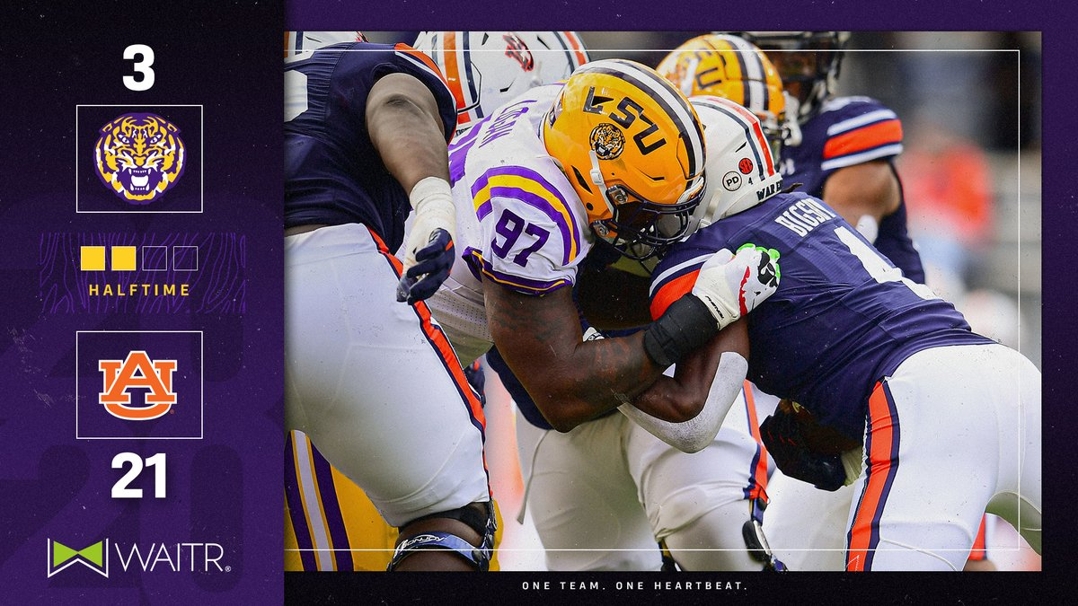 Lsu Football On Twitter Halftime From Auburn