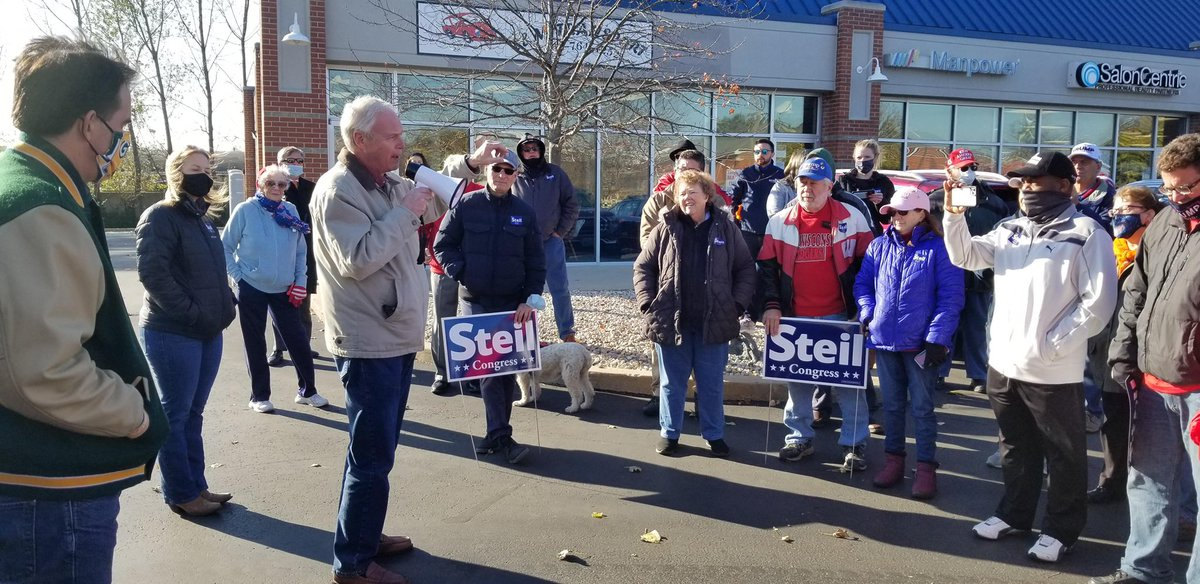 What a great day for a Get Out the Vote Tour with @BryanSteil and @ScottWalker. Lots of enthusiasm in Kenosha, Burlington, Franklin & Muskego for #LeadRight agenda. Vote Tuesday! #Election2020