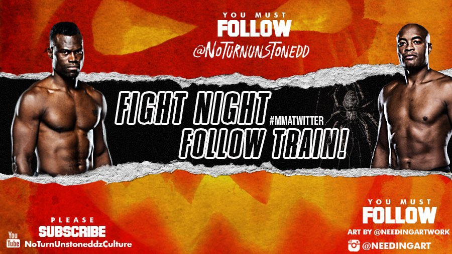 #UFCVegas12 FIGHT NIGHT FOLLOW TRAIN!!🔥💯    1. RETWEET & LIKE this Post. 2. Follow Me, @needingartwork & MMA fans that RT/Like. 3. Drop your fight predictions below. 4. Watch your following grow & connect with new fans!🚆  Latest YouTube Video!!👇🏽✅ https://t.co/csLrmxlDme https://t.co/tMnTMOMknT