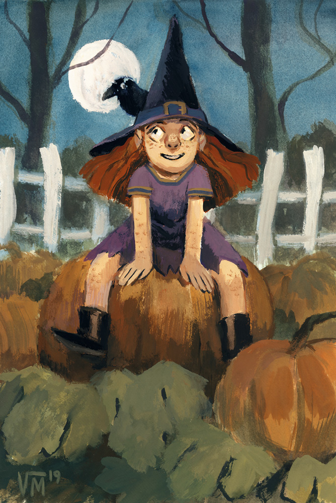 One last Halloweeny pic! Witches and pumpkin patches 🎃