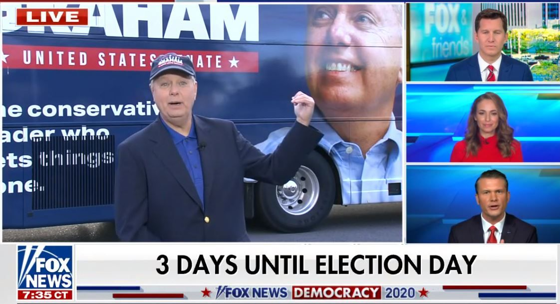 """Lindsey Graham urges voters to stop reading """"triggered"""" #Twitter, watch Fox News. (Newsweek) #SocialMedia #Politics #Election2020"""