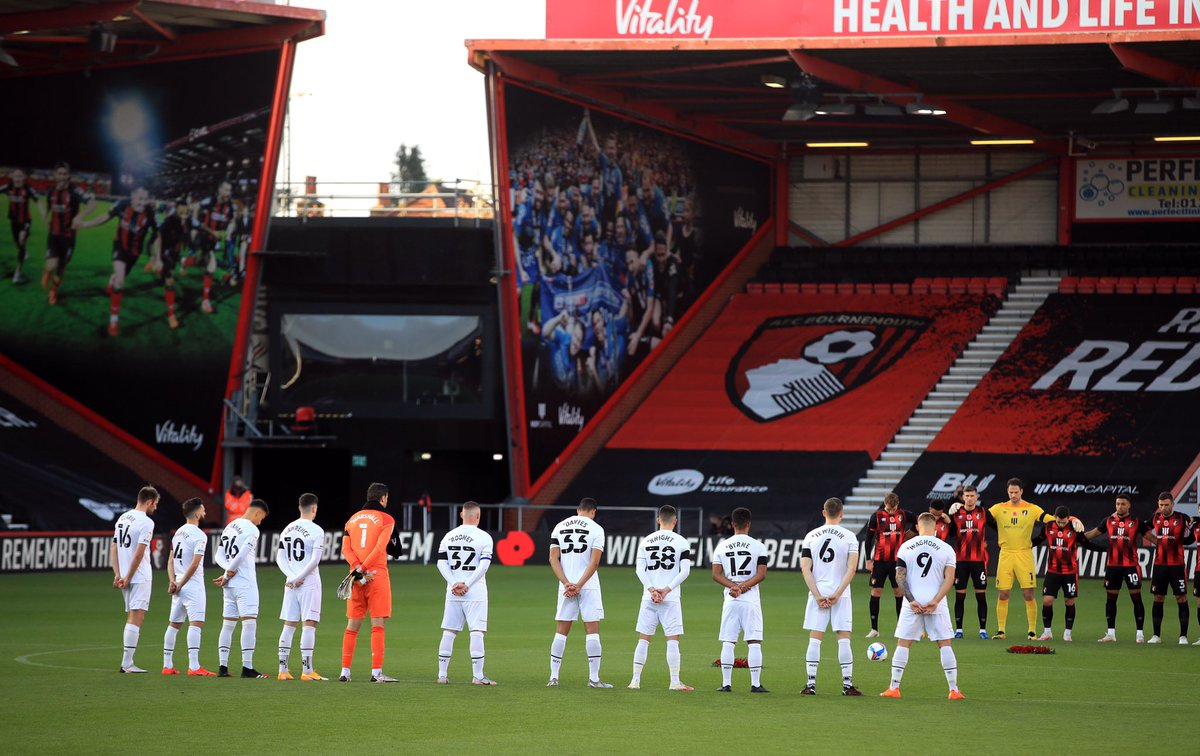 Good to be back on the pitch today. Special minute silence for #RemembranceDay and Nobby Stiles ❤️🙏