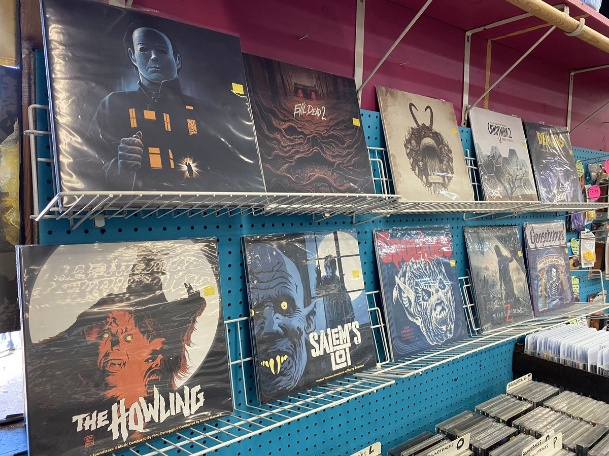 Just in! Tons of cool, limited edition used horror/suspense soundtracks! We're open until 6 P.M.!