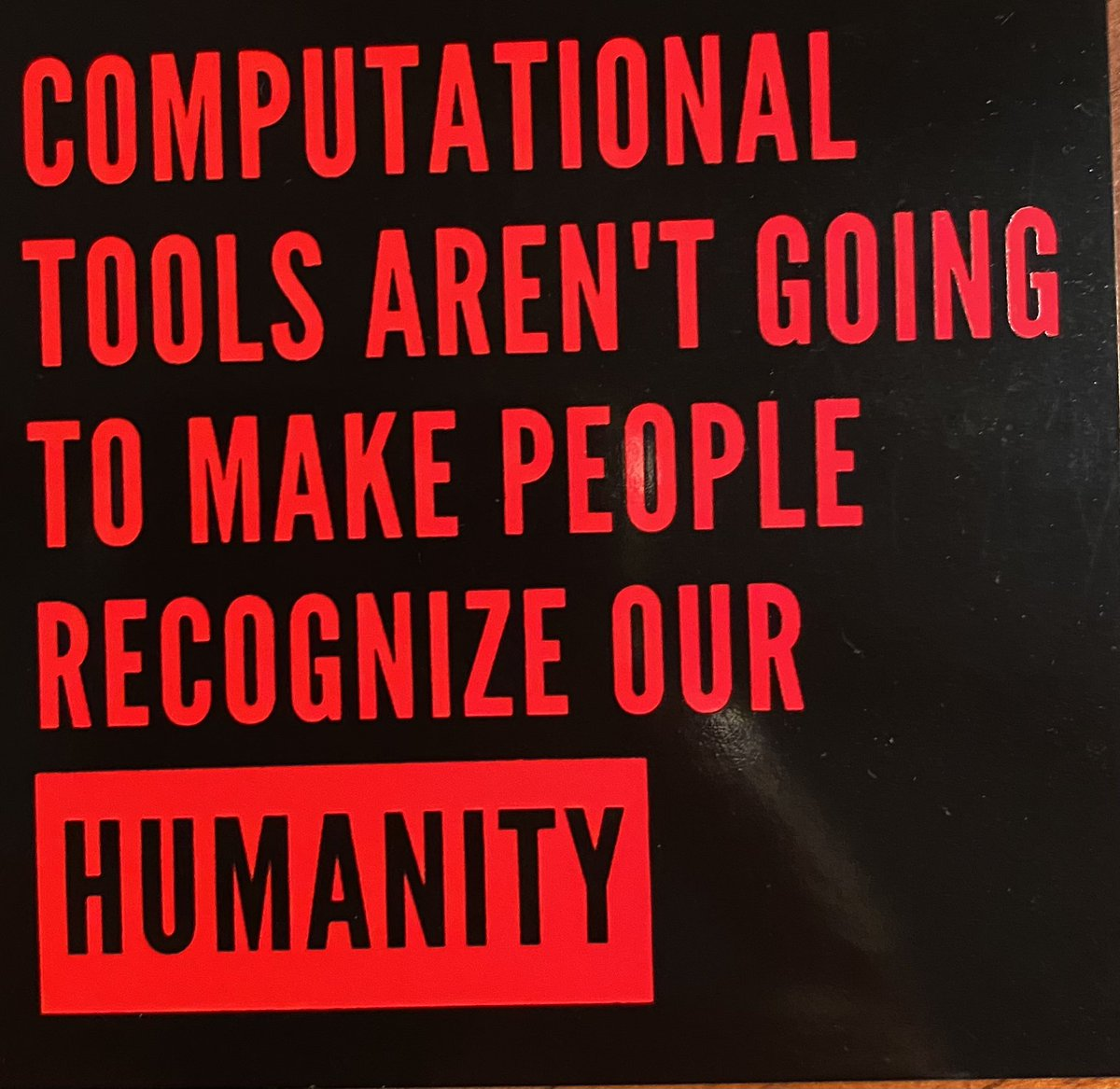 "Evan Selinger on Twitter: ""This sticker should be on every laptop! Thanks @ Autumm & @hypervisible!… """