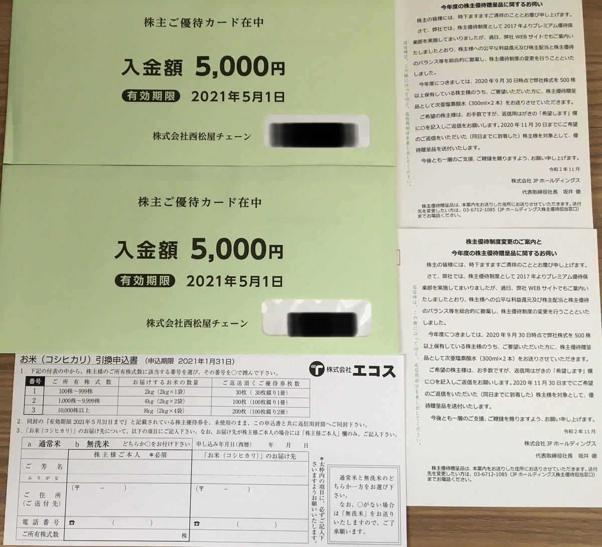 西松屋、エコス、JPHD、SBI HD到着!SBIの3月権利の仮想通貨はもう受け取ったと思っていたけど…まだだったのか…??口座のXRPは?謎…