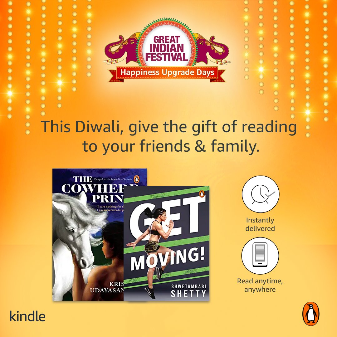 One more reason (like we needed more!) to buy books! Get these brilliant e-books by @shwe_tambari and @krisudayasankar and make the most of this festive season.   #TheCowherdPrince #GetMoving