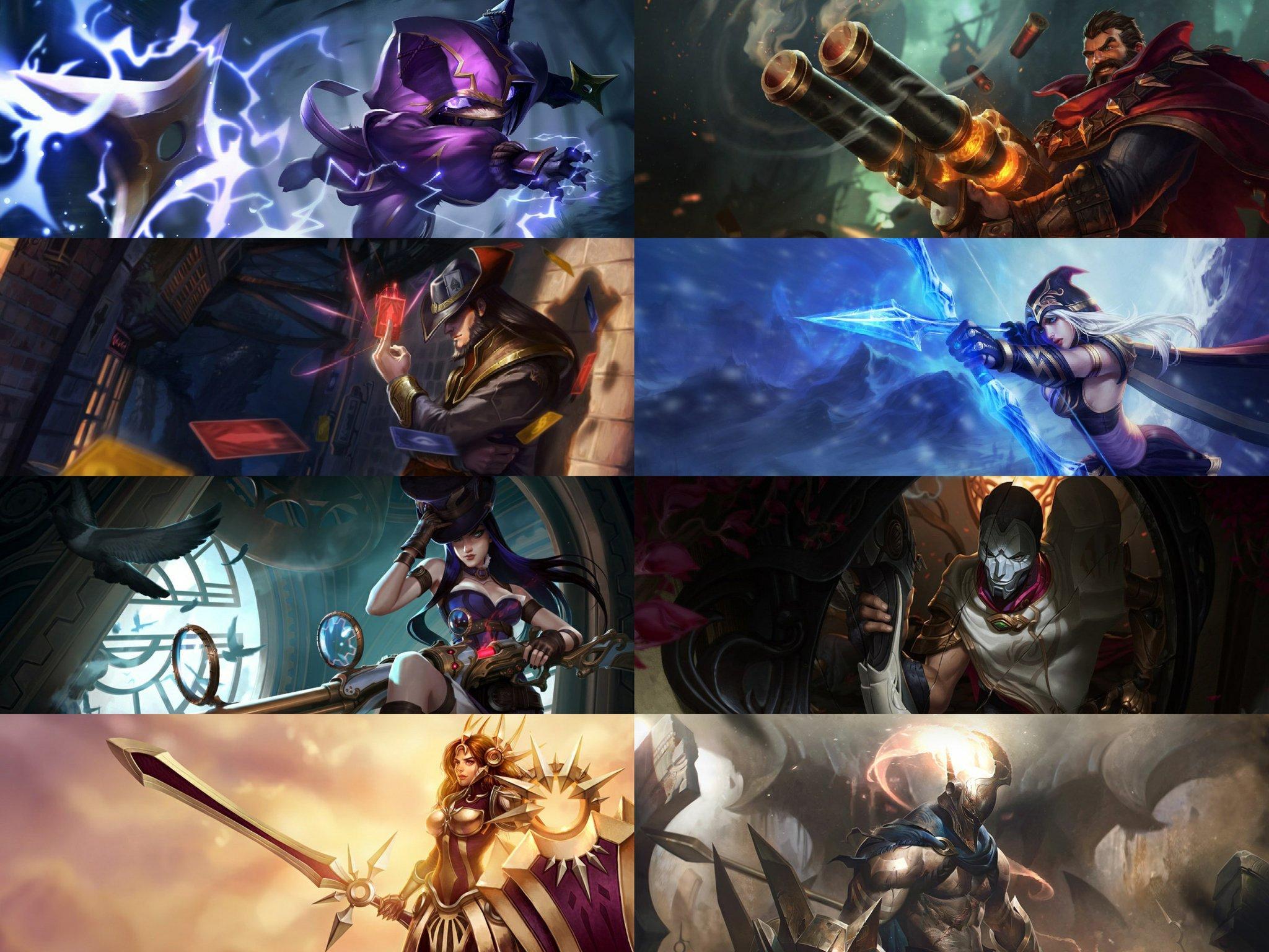 Imagem: Campeões de League of Legends