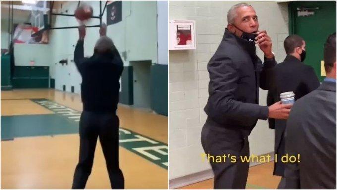 【影片】Obama投三分引盛讚!Tatum直言偉大,詹皇:你這是火力全開!