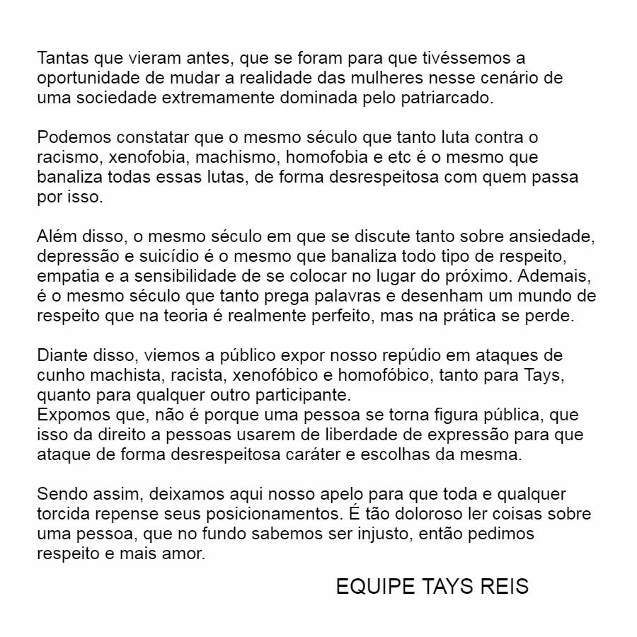 TAYS MERECE RESPEITO 🤍