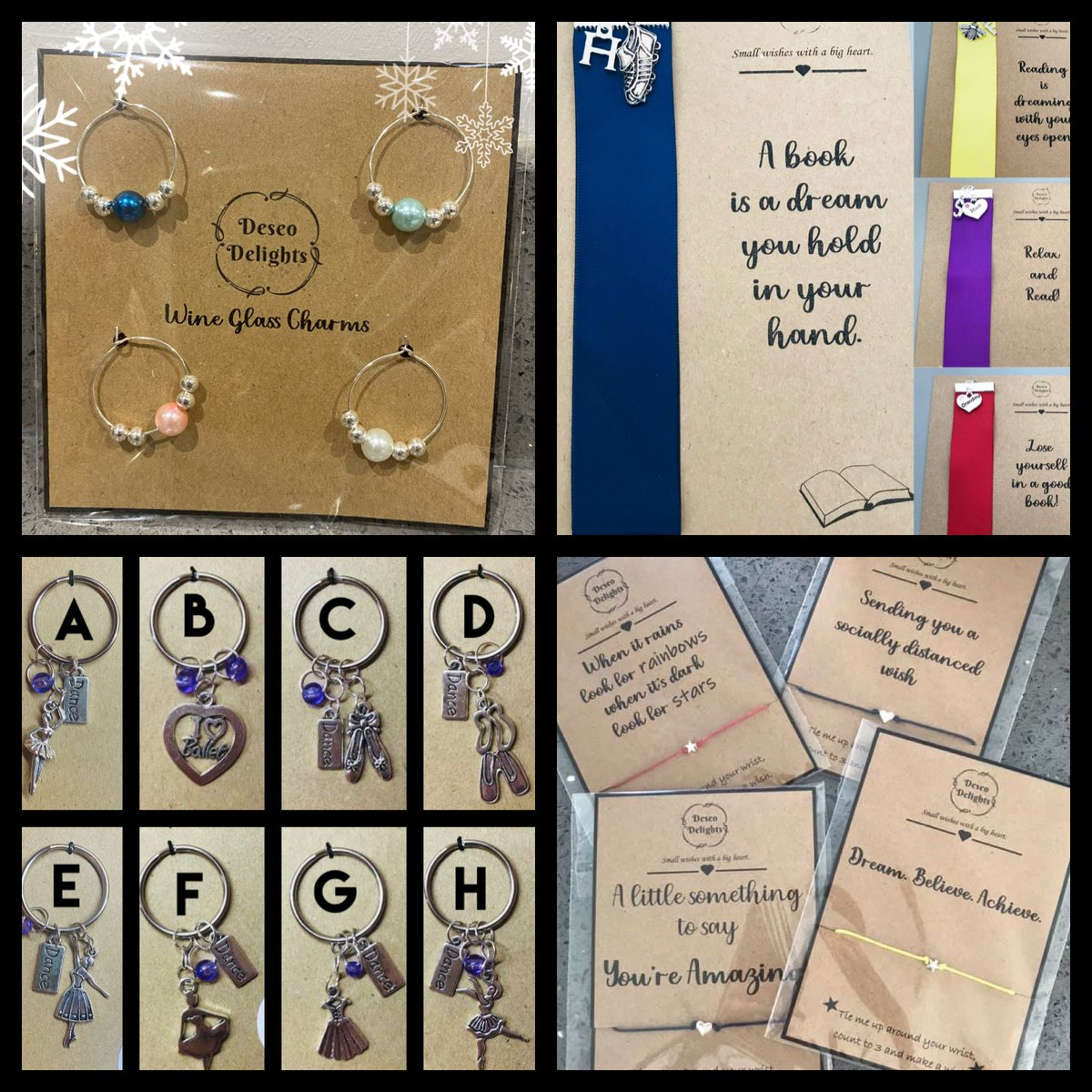 @MissSFEnglish Deseo Delights: Wish bracelets, bookmarks and wine glass charms. facebook.com/Deseo-Delights…