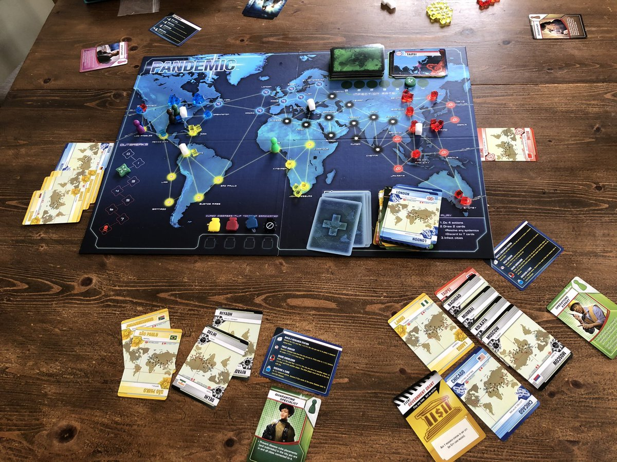 UPDATE: 2 minutes to 1pm. Pandemic sorted by lunchtime as promised! #collaboration @Zmangames_ #whatpandemic