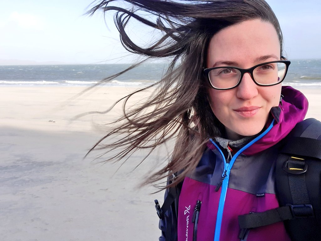A windy walk at the beach this morning 🙃 #Berneray #OuterHebrides