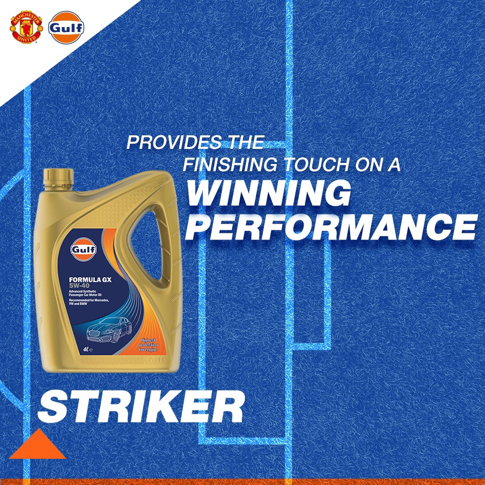 Always ready, the first to react, and finishes well. Our Formula performance gives the team that extra edge to win the game. ☄️  We're back in action today, cheer for @ManUtd V Arsenal in the replies below.  #GulfOilInternational #GulfOil #ManchesterUnited #MUFC