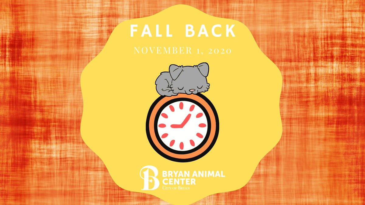 Friendly reminder to move your clocks back one hour⏰ #fallback2020 #daylightsavingstime #snooze #naptime #BryanAnimalCenter #BetterInBryan #CityofBryan #pupnaps #catnaps #snuggles