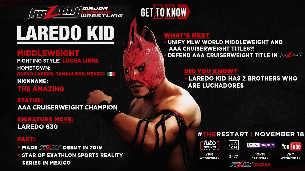 AAA World Cruiserweight Champion Laredo Kid Joins MLW Restart